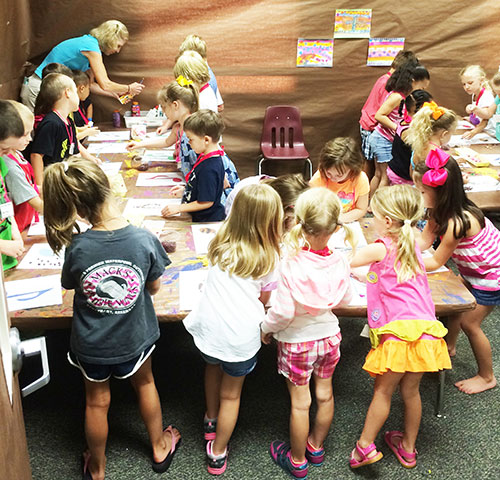 The summer art camp organized by the National Park Church of Christ in Hot Springs