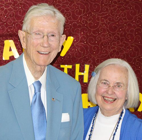 Charlie and Amy Jo Runnels enjoy his 90th birthday celebration.