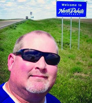 Entering North Dakota during my recent trip.