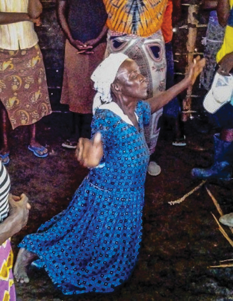 'Mama Bonyo' falls to her knees upon seeing her new home.