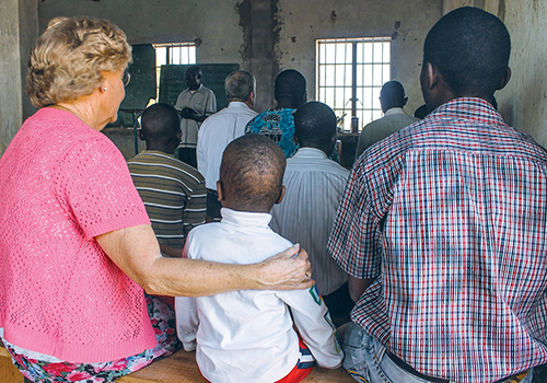 Ruth Orr worships with a small congregation near Lusaka