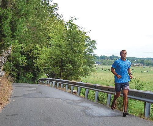 'Ultramarathoner' Greg Armstrong runs 100-plus miles per week on the back roads of Wilson County in Tennessee as he trains for a 24-hour run.