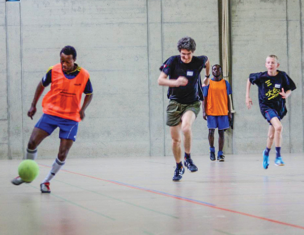 "Christians from across Europe compete in the annual ""Footballweekend"" in Switzerland."