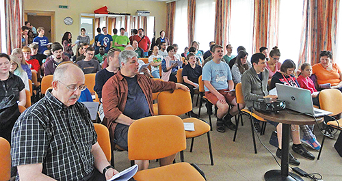 Christians from across Europe and the U.S. sing during the Central European Retreat.