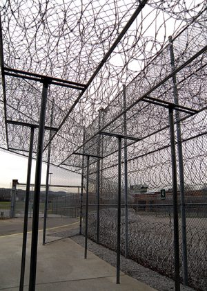 Razor wire lines Nashville's Tennessee Prison for Women