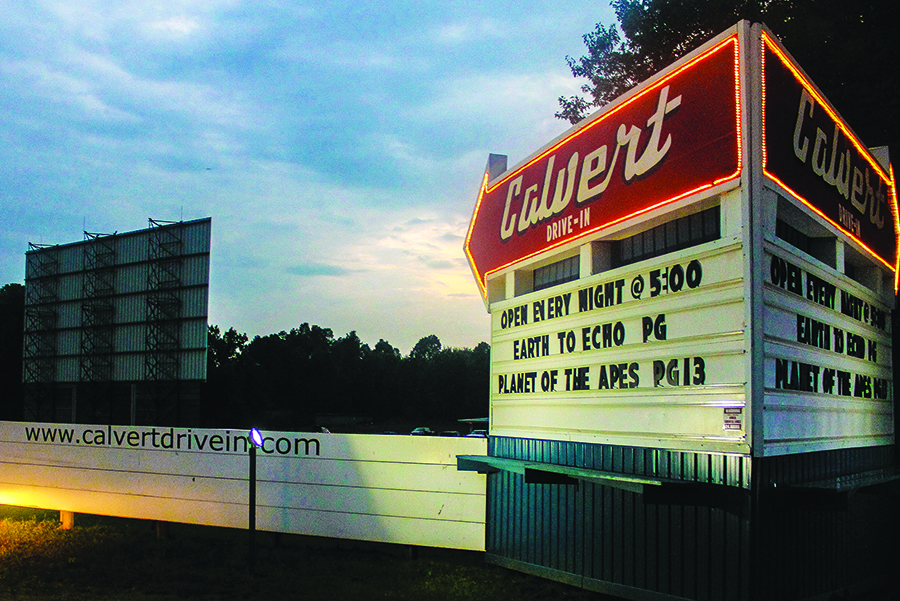 The Calvert Drive-in Theatre opened on a 10-acre plot in 1953. It still shows two movies a night