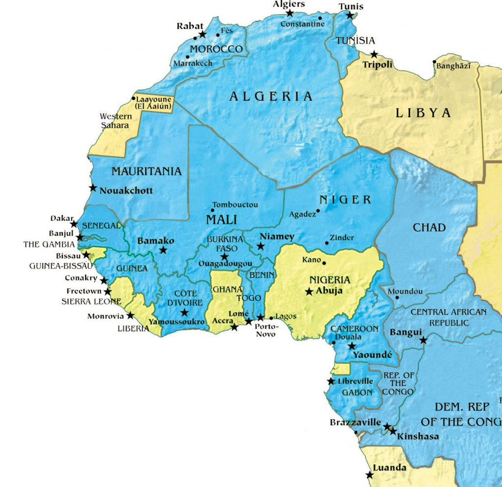 MAP: L'Afrique française (French Africa) | The Christian Chronicle