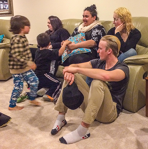Christians gather for Wednesday night Bible study in Tauranga.