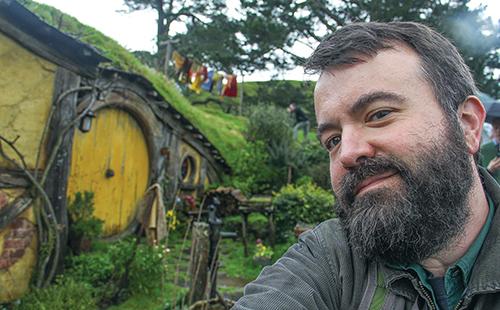 At the Hobbiton movie set in Matamata