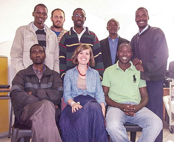 The Community Development class at African Christian College included (top row