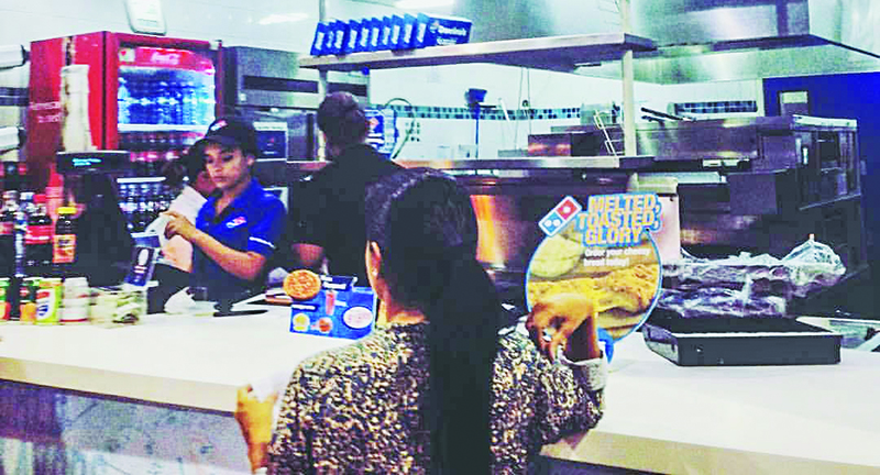 The Tocumen International Airport in Panama City offers international cuisine — pizza.