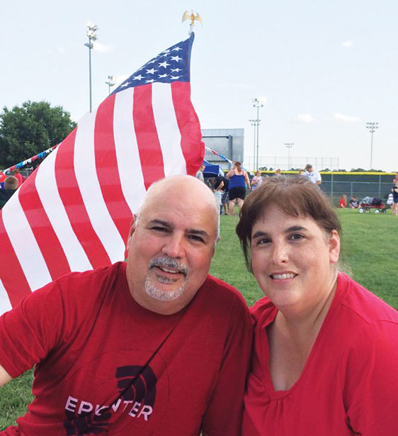 Hector and Melissa Hinojosa celebrate Independence Day at a park in Hurst