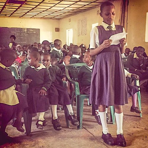 At a school in the East African town of Kitale