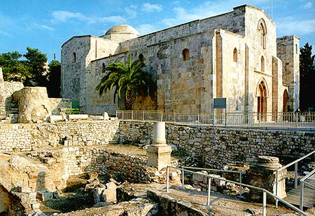 The Church of St. Anne and the pool of Bethesda in Jerusalem.