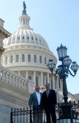 With U.S. Rep. Ted Poe in Washington, D.C.