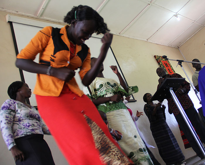 Sunday worship at the Mbale Church of Christ in Uganda