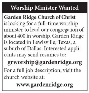 Worship Minister Garden Ridge Church Of Christ The Christian Chronicle