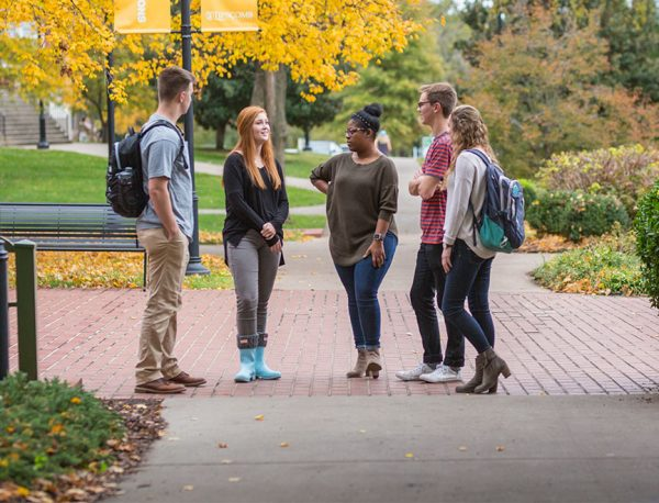 Students visit at Lipscomb University in Nashville, Tenn. The higher education institution was cofounded by David Lipscomb and James Harding as the Nashville Bible School in 1891.