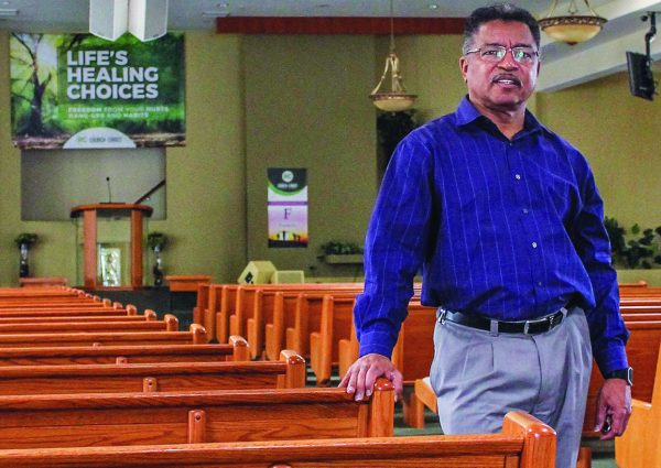 "Dewayne Winrow, one of Marshall Keeble's former ""boy preachers,"" has served the Reseda Church of Christ in Los Angeles' San Fernando Valley since 1975."