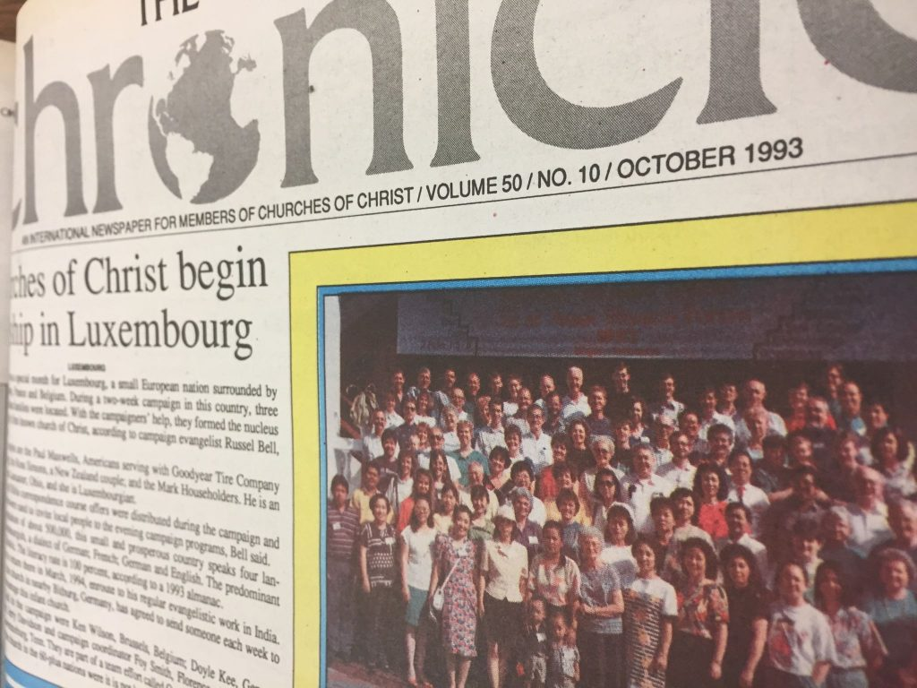 The front page of the October 1993 issue of The Christian Chronicle.