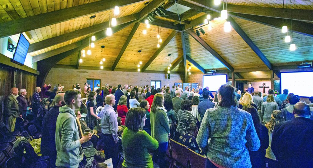 Worship at the Southpoint Church of Christ on Red Bridge Road in Kansas City, Mo.