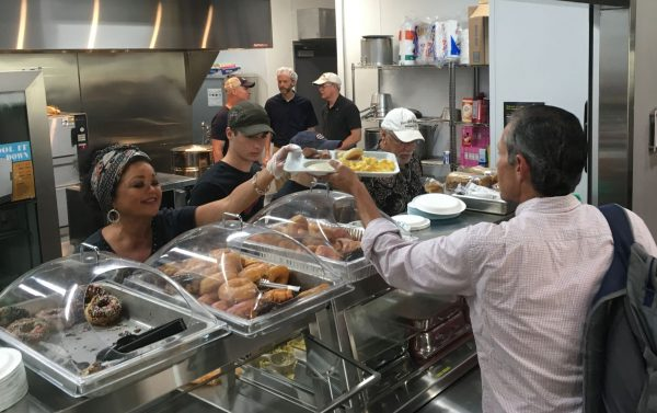Food and Shelter serves several meals a day to those in the community who are in need of food.