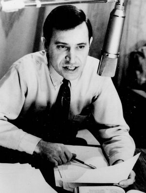 John Allen Chalk, who later became an attorney, shares a Bible message on a Herald of Truth radio program. Chalk served as the ministry's main radio preacher from 1956 to 1969.