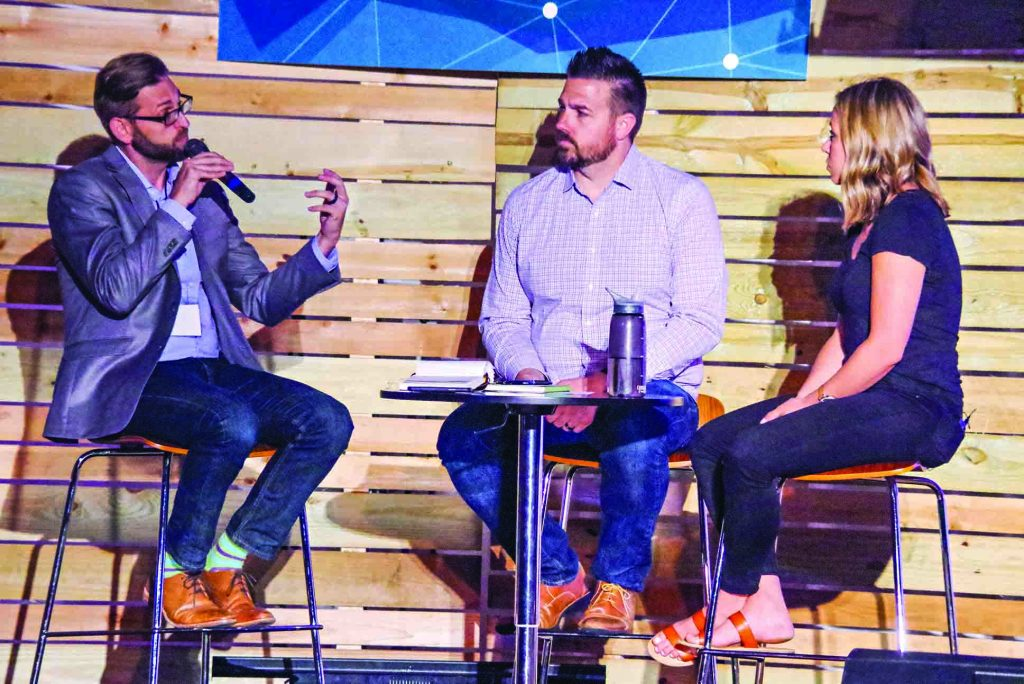 Brandon Tatum, Jay Smith and Mallory Wyckoff discuss Generation Z during an audience question-and-answer session.