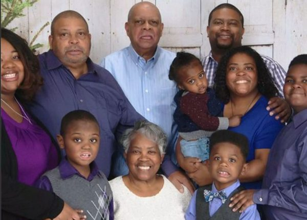 Ray Coleman with members of his family