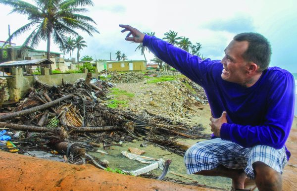 Jose Fernandez Rosa, son of Sandra Rosa Vargas, describes how Hurricane Maria ripped the roof off his mother's home in Arecibo, Puerto Rico.