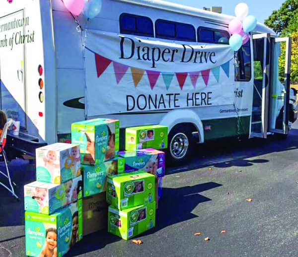 The diaper ministry serves needy families.