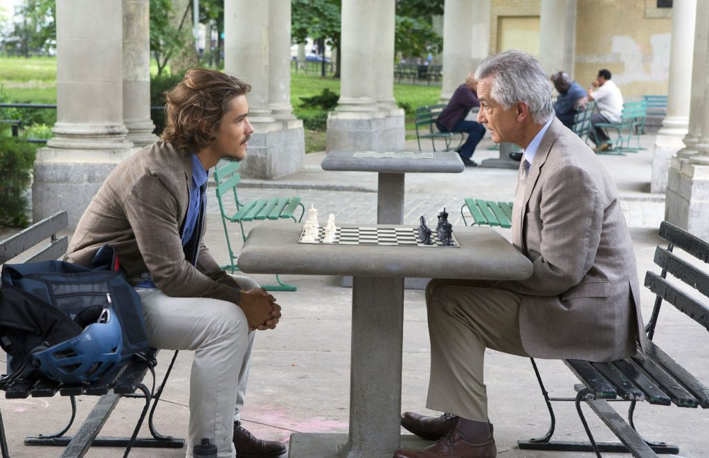 Journalist Paul Asher (Brenton Thwaites) is granted an interview of a lifetime with The Man (David Strathairn) in the new movie AN INTERVIEW WITH GOD.