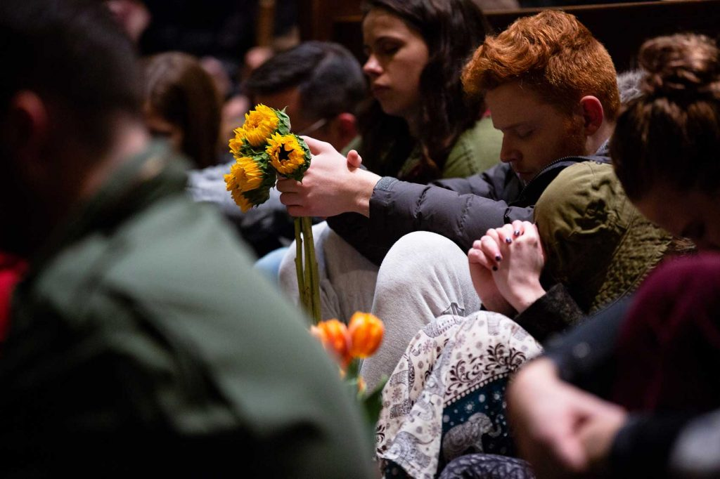 A vigil for victims of the Pittsburgh synagogue attack.
