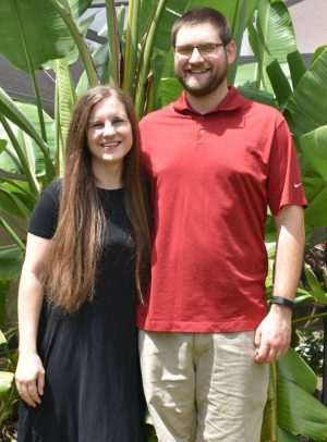 Bethany Cowdrey, with her husband, Jared.