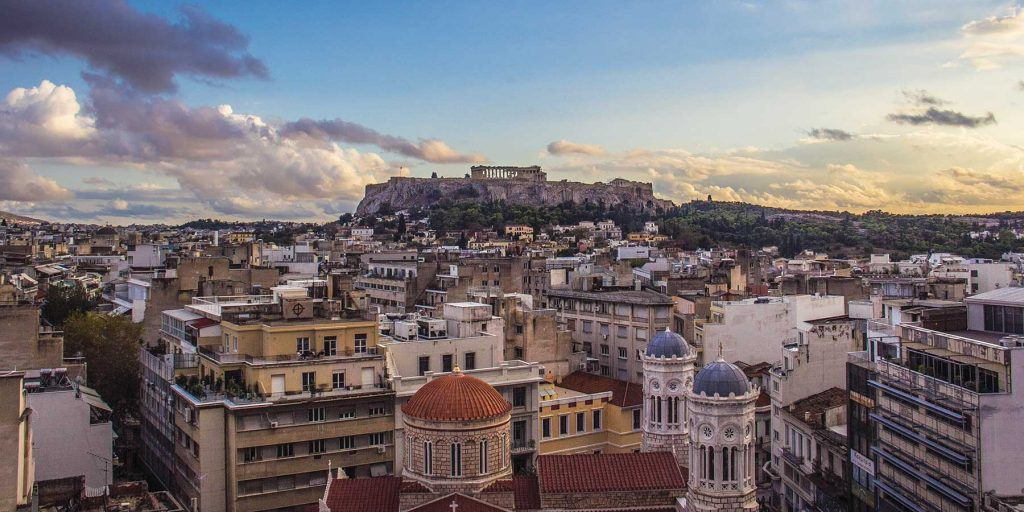 Athens, Greece, at twilight