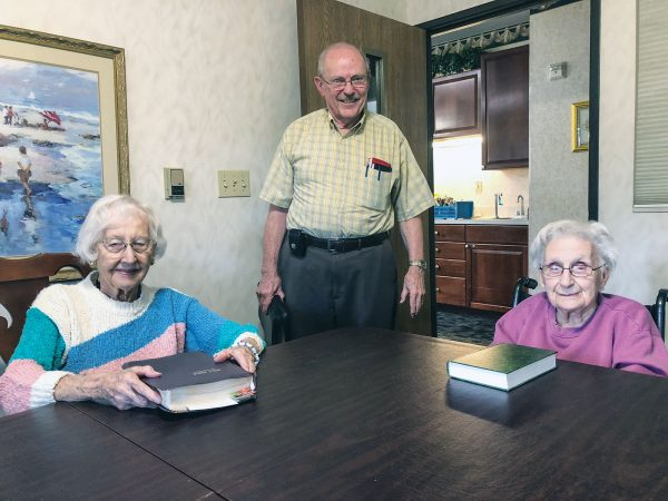 "In addition to serving as the Lincoln Church of Christ's longtime prison minister, Bill Hance makes regular visits to nursing homes to conduct Bible studies. After a recent study of Ephesians 6, Hance visits with Dorothy Sterns, age 101, and Marie Green, 103. (At age 80, he is the youngster of the group.) Hance also has served on mission trips to Samara, Russia. ""He knows the Bible frontwards and backwards,"" Sterns says of Hance. The minister credits his Bible knowledge to the dedication he saw in his parents. During World War II, as his father served in the military, his mother had to ""train up a child in the way he should go,"" as Proverbs 22 reads, on her own. She was up to the task, Hance said, adding that ""some of the best Bible teaching I had was during the war."""