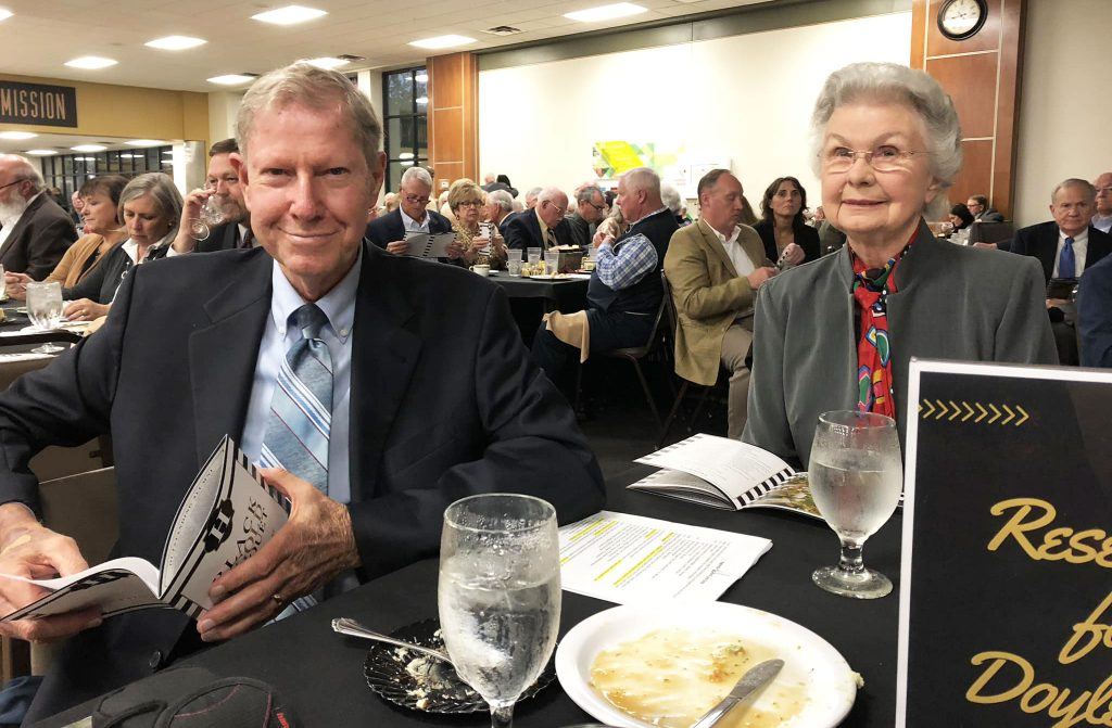 Doyle and Barbara Kee at the 2018 Alumni Awards at Harding University in Searcy, Ark.