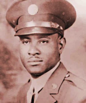 "Tech Sgt. Richard Overton's unit was nicknamed ""The Bucking Bulldozers."""