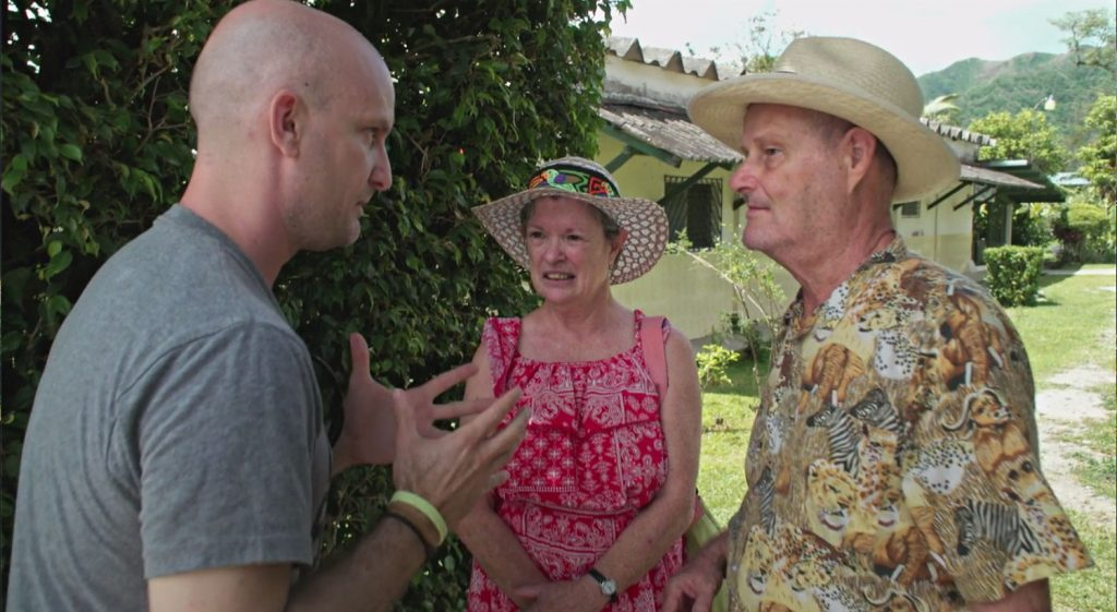 "Leon Logothetis speaks with Pat and Ken Beckloff on Netflix's ""The Kindness Diaries."""
