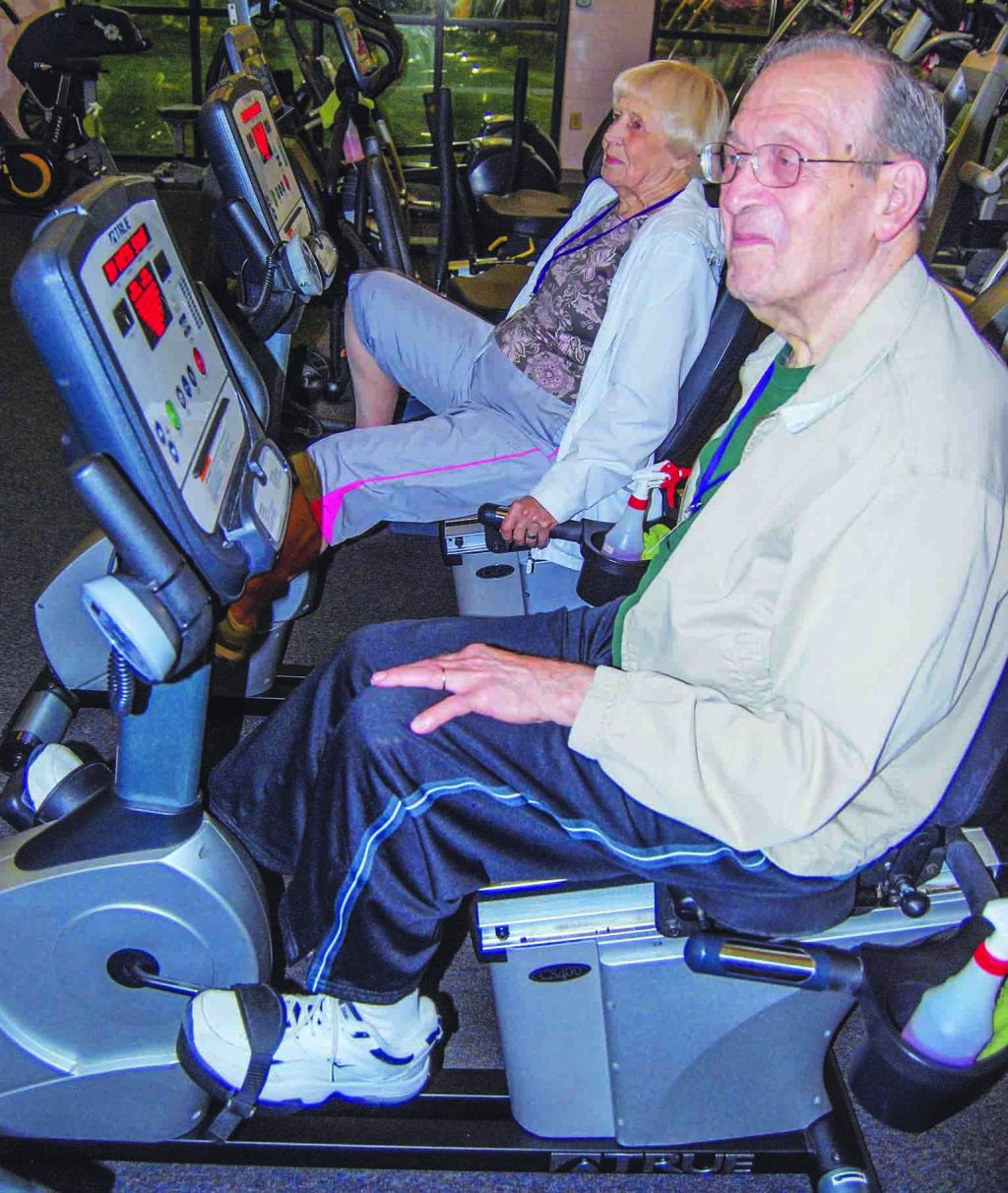 Most weekday mornings, Bob and Jean Reynolds kick off their day at 6 a.m. by riding stationary bikes side by side at the Jimmy Floyd Center in Lebanon, Tenn.