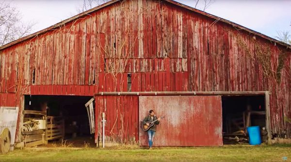 Kason Lester on his family's farm in Tennessee.