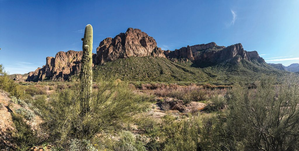 Bulldog Canyon forms part of the striking southwestern landscape of Tonto National Forest in Arizona, northeast of Mesa, home of the Salt River Church of Christ.