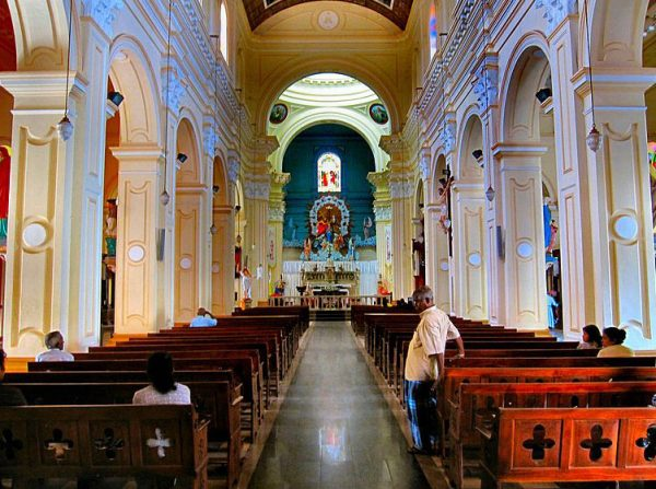 Inside the Negombo Catholic Church in Colombo, Sri Lanka