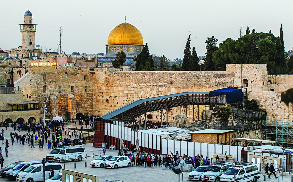Both Jews and Muslims consider Jerusalem holy as it contains the Temple Mount, which includes Judaism's Western Wall and Islam's al-Aqsa Mosque and Dome of the Rock.