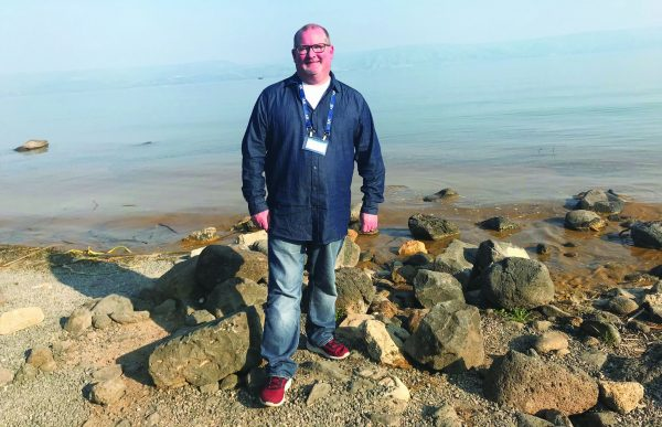 Bobby Ross Jr. at the Sea of Galilee
