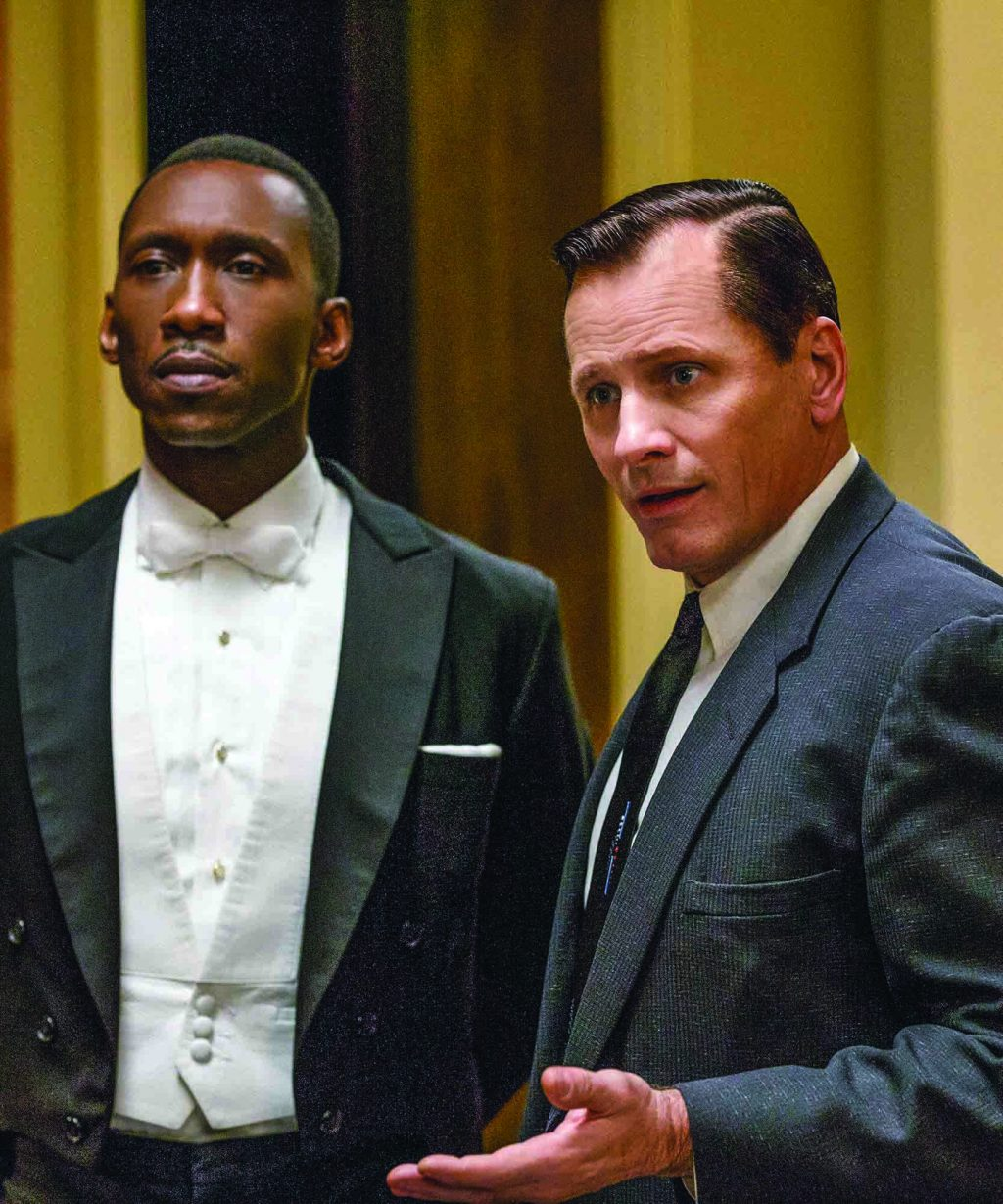 "Donald Shirley (Mahershala Ali) and Tony Lip (Viggo Mortensen) star in the film ""Green Book."""