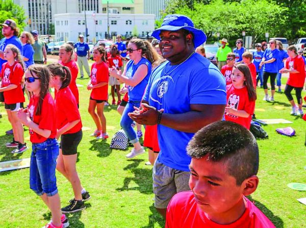 "Faulkner students join hundreds of youths at Alabama's first ""Healthy Eating and Active Living"" Day at the state Capitol."
