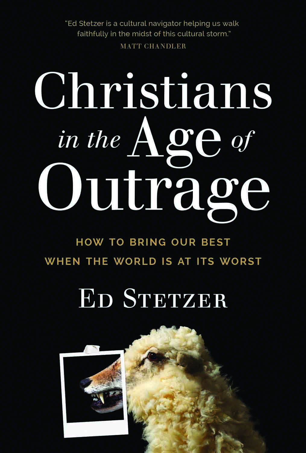 Ed Stetzer. Christians in the Age of Outrage: How to Bring Our Best When the World Is at Its Worst. Carol Stream, Ill.: Tyndale Momentum, 2018. 336 pages.