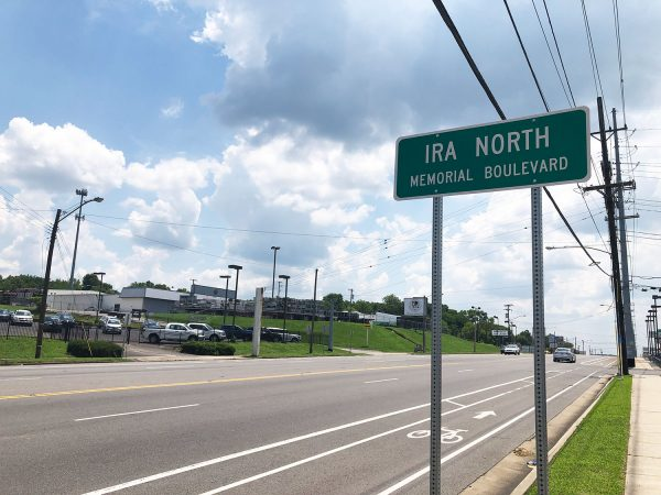 Ira North Memorial Boulevard was created in 2017 by a Tennessee State Senate resolution.