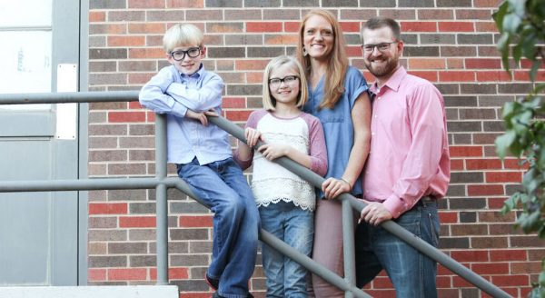 Dr. Kent Brantly, his wife, Amber, their 10-year-old daughter and their 8-year-old son in a family photo taken in Texas.